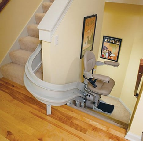 Custom Stairlifts In San Diego Curved Stair Lift Custom Stair Lift